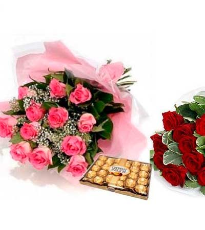 Rosas con bombones