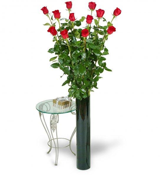 Rosas tallo largo