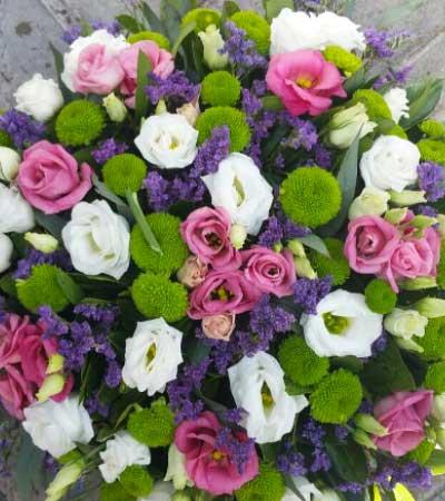 Centro de flores colores