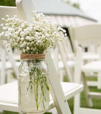 Flores boda ceremonia