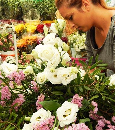 Flores frescas en Madrid