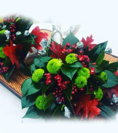 Comprar cesta de navidad en madrid flor de pascua for Centro mesa navidad